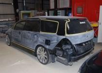 ホンダ オデッセィ(HONDA) 全塗装(オールペン) ガラスコーティング 加工 制作車両 自動車修理事例