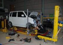 スズキ ワゴンR(SUZUKI) フレーム修正 イタリア製スパネーゼ社 フレームジグ修正機 自動車修理事例
