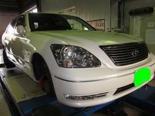 トヨタセルシオ(TOYOTA Celsior)タイヤ交換・アライメント調整